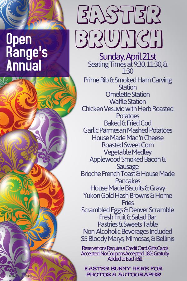 Annual Easter Sunday Brunch